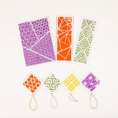 Geometric Paper Cutting Kit in Maple