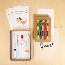 Load image into Gallery viewer, Kraft Notebooks Embroidery Kit