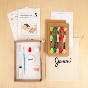 Kraft Notebooks Embroidery Kit