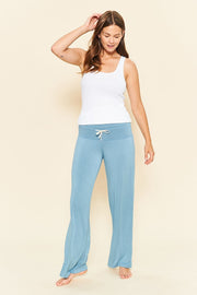 Bamboo Long Loungewear Pant Denim Blue - Made in Canada - This is J