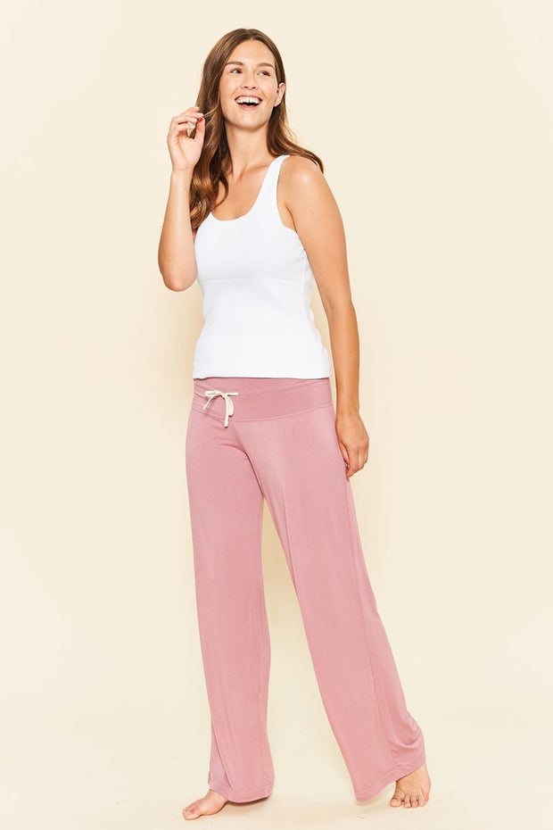 Bamboo Long Loungewear Pant Dusty Rose - Made in Canada - This is J