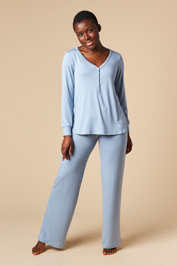 Henley Top + Pajama Pant Set