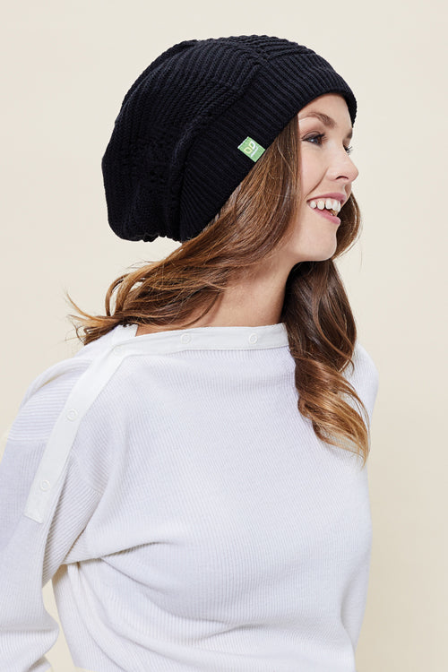 Floppy Toque - Tessa Flower Black