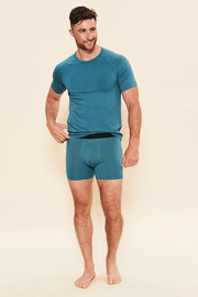 Bamboo Boxer Dark Teal - This is J