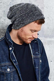 Men's Beanie Toque - Black and White - This is J