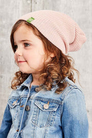 Kids Beanie Floppy Toque - Rose Quartz - Made in Canada - This is J