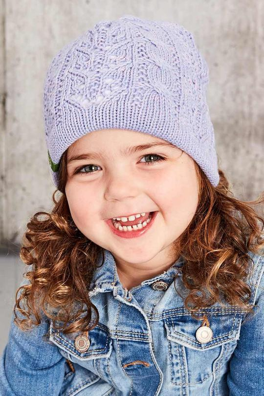 Kids Classic Reversible Toque - Heather Purple - Made in Canada - This is J