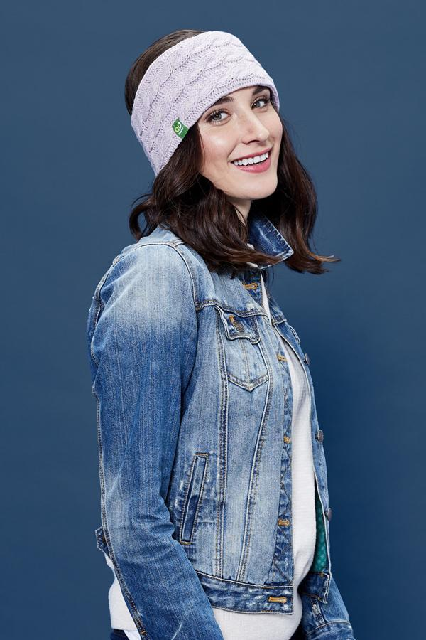 Cable Knit Headband - Mauve - Made in Canada - This is J