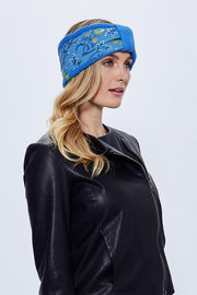 Cable Knit Headband - Regatta Blue - Made in Canada - This is J