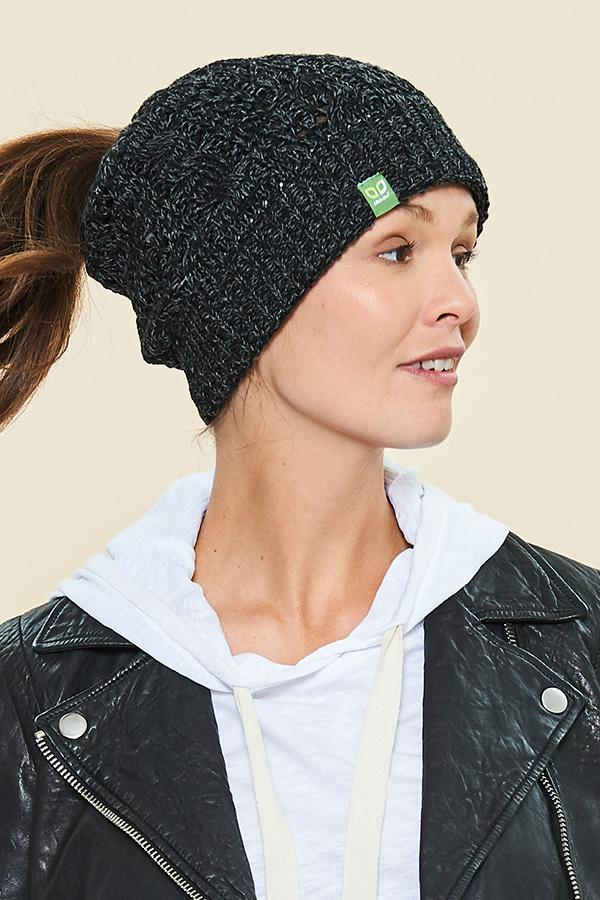 Messy Bun Toque - Charcoal - Made in Canada - This is J