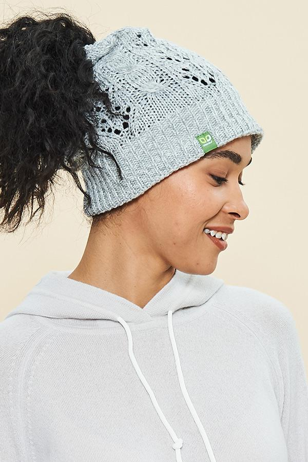 Messy Bun Toque - Light Blue - Made in Canada - This is J