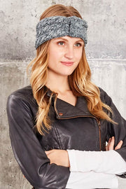 Cable Knit Headband - Eucalyptus - Made in Canada - This is J