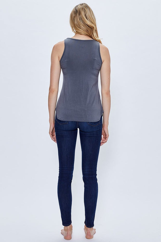 Bamboo Basics: Tank Top - Charcoal Grey - Made in Canada - This is J