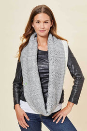 Infinity Scarf - Ombre, Light Grey & Ivory - Made in Canada - This is J