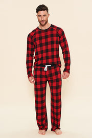 Pajama Set: Long Sleeve Shirt + Pajama Pant - Holiday