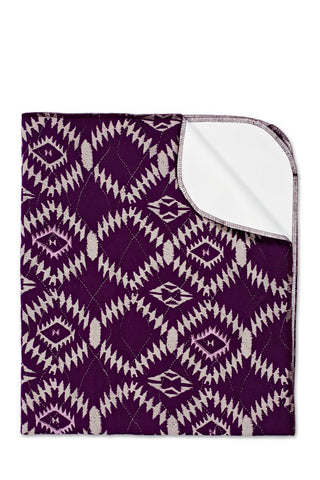 Bamboo Waterproof Change Mat:<br> Southwest, Eggplant Purple</br>