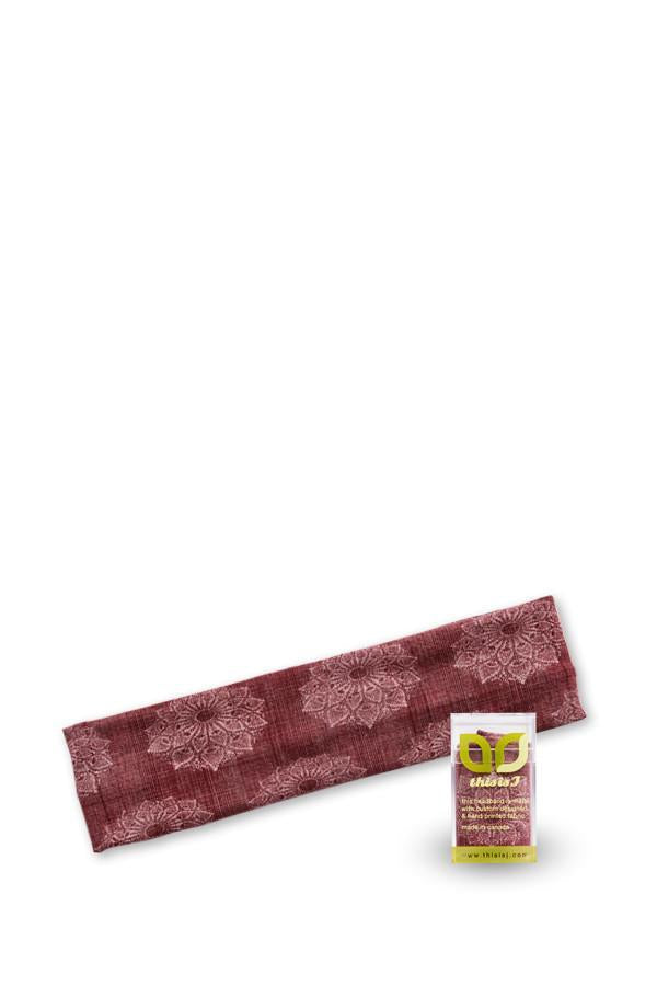 Classic Headband - Shell Lace, Maroon - Made in Canada - This is J