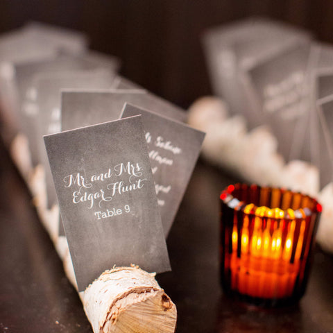 Chalkboard mini place cards