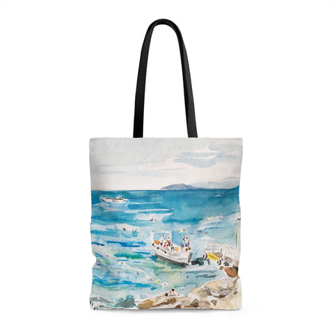 Sailboat in Italy Tote Bag