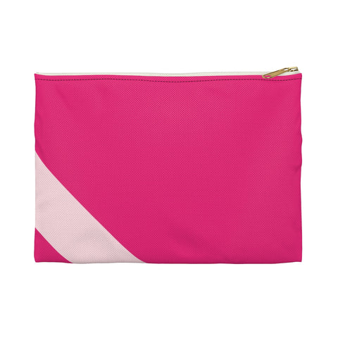Pink Striped Accessory Pouch