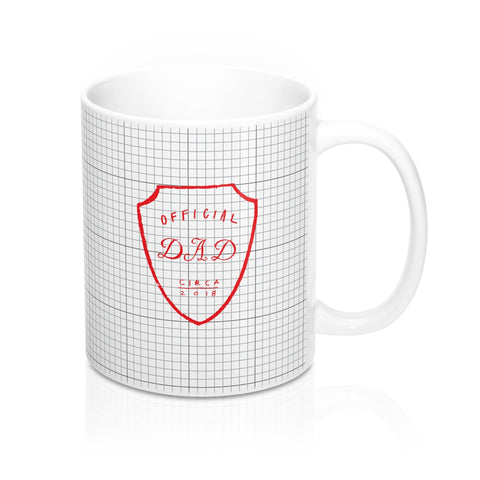 Official Dad Red Crest Mug