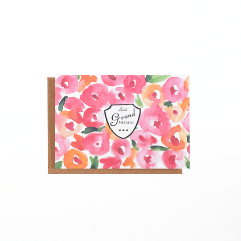 Poppy Floral Card
