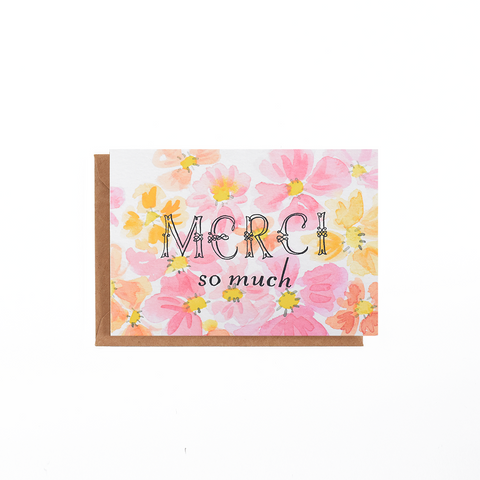 Pinky Floral Card