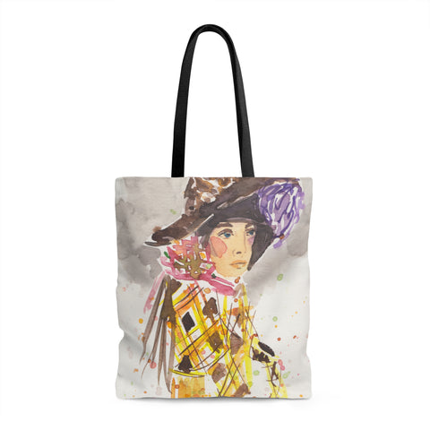 Girl in Hat Tote Bag