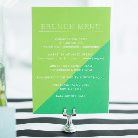 2 toned menu card