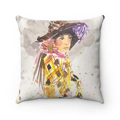 Girl In Hat Pillow