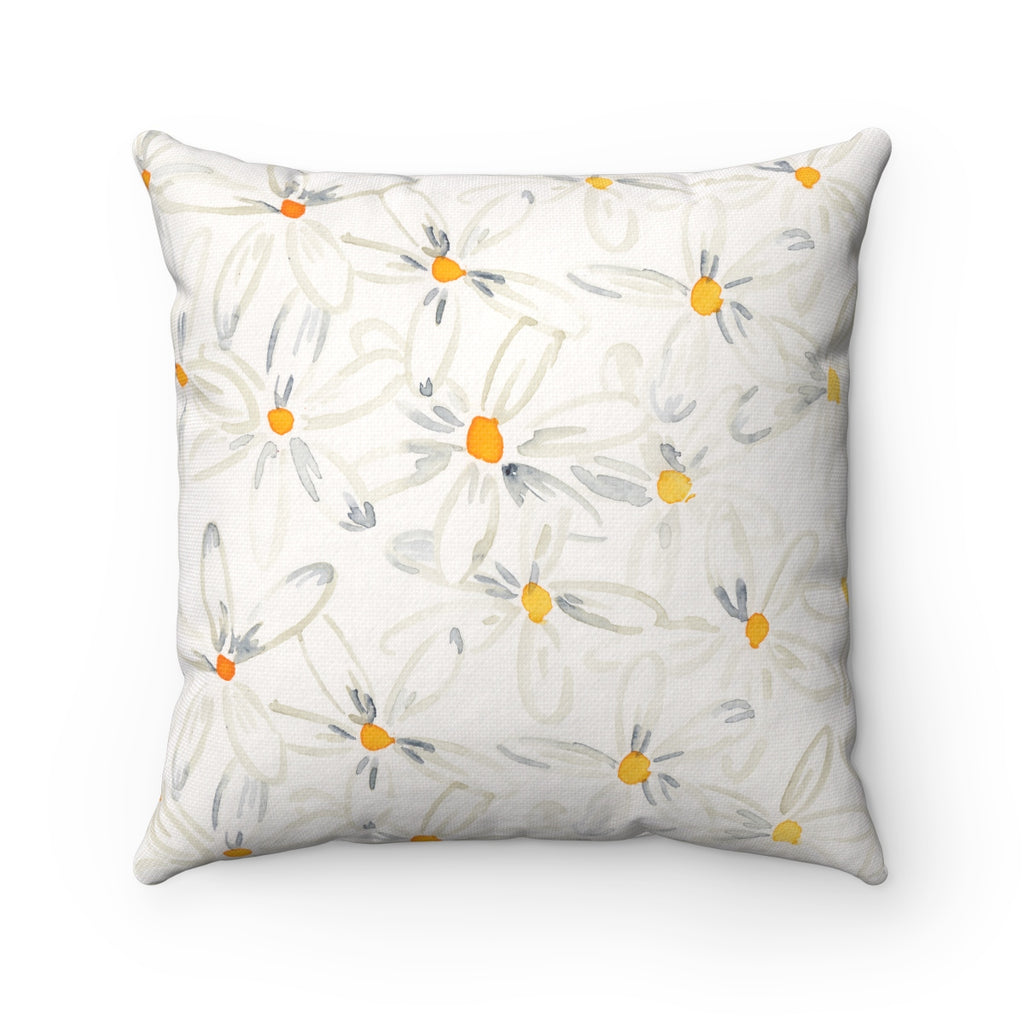 Daisy Floral Pillow