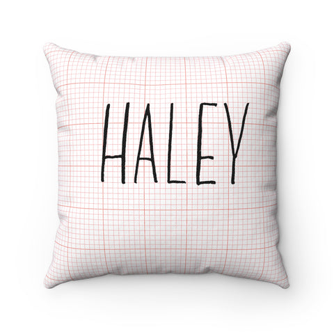 Red Graph Name Pillow