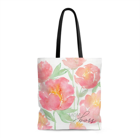 Peonies Mom Boss Tote Bag