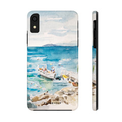 Girl on the Rocks in Italy Phone Case