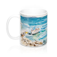 Girl on the Rocks Italy Mug