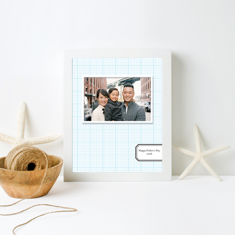 Blue Graph Custom Photo Print