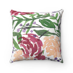 Mauve Floral Pillow