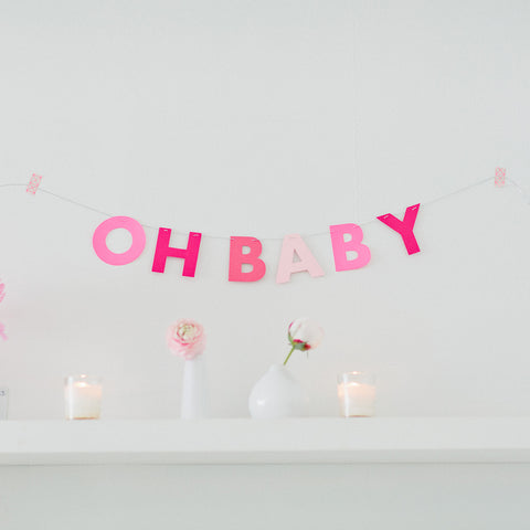 Mini Solid letter garland