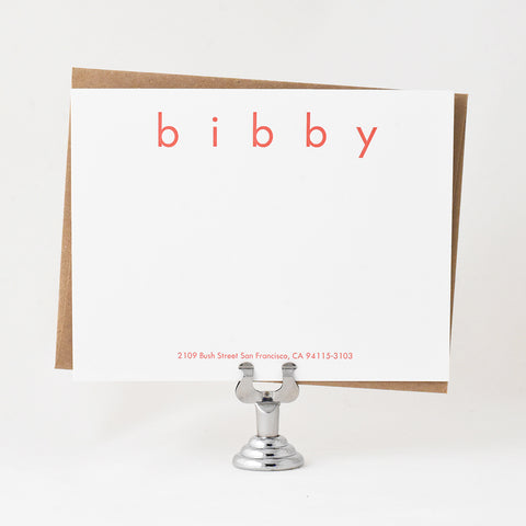 Bibby Stationery