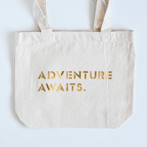 Adventure Awaits Small Tote