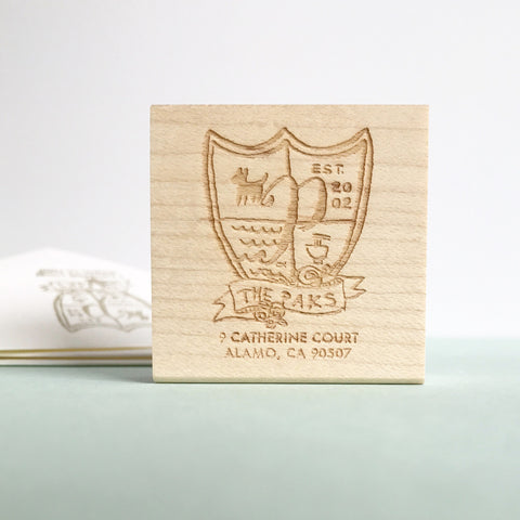 Crest Rubber Stamp