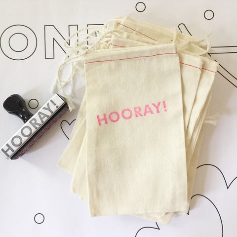 Hooray muslin bag