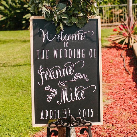 Wedding welcome sign - Decal