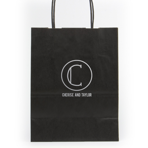 Circle Monogram Shopping Bag