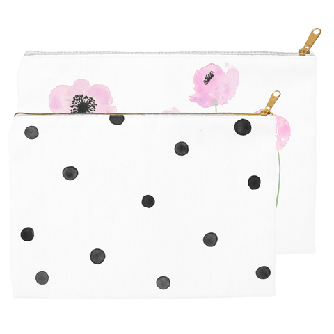 Anemone and Dots Pouch Set