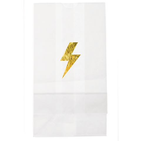 Lightening bolt lunch bag