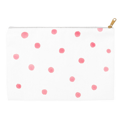 Watercolor Pink Dots Pouch