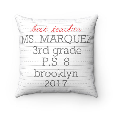 Personalized Dash Pillow