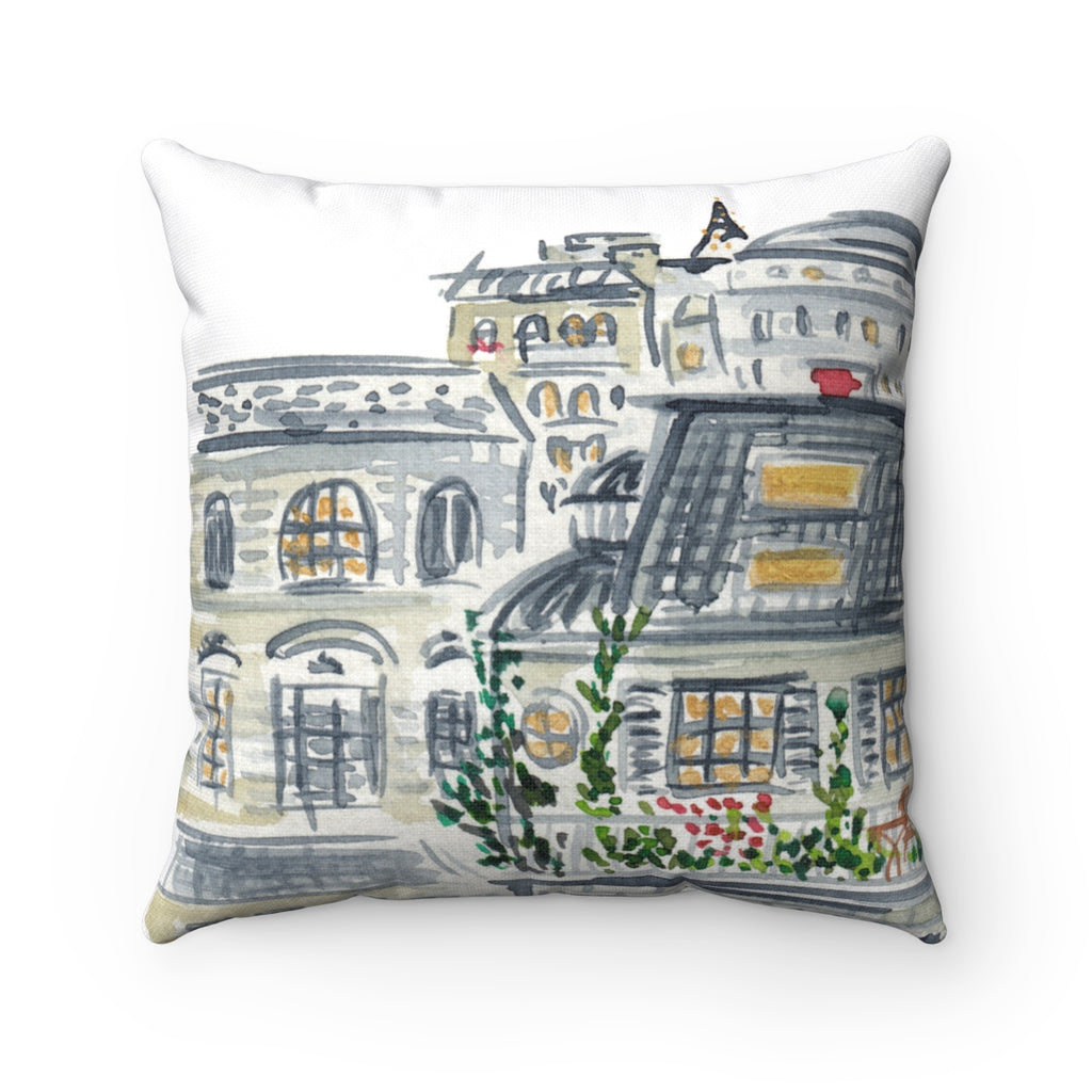 Rooftops of Paris Pillow