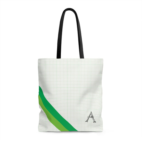 Green Graph Monogram Tote Bag